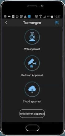 camera toevoegen menu - Dahua DMSS App