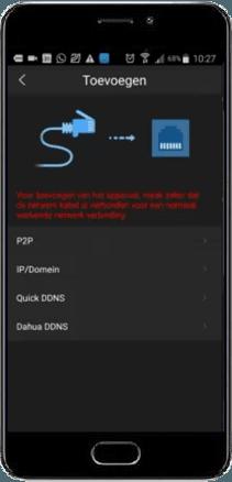 Camera toevoegen bedraad - Dahua DMSS App